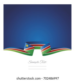 Abstract background Namibia flag ribbon