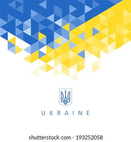 Abstract background - the national symbol of the Ukraine