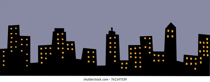 Abstract background of night cityscape