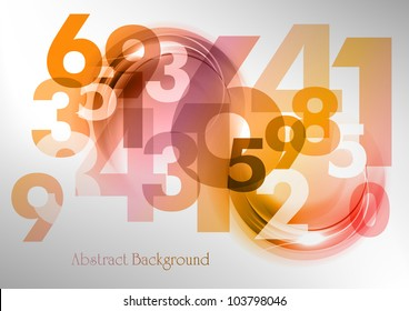 abstract background with the numbers