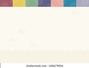 Abstract background with oriental ornaments elements. Korean traditional background