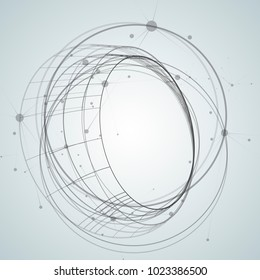 Abstract background with overlapping circles and dots.