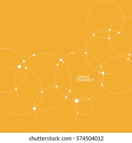 Abstract background with overlapping circles. Vector illustration.