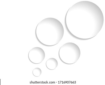 Abstract background with paper circles, vector illustration
