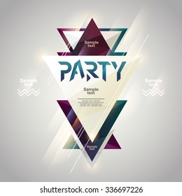 Abstract background for party poster