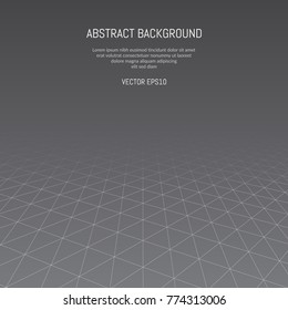 Abstract background with a pattern of lines and triangles. Lines going to infinity.