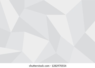 Abstract, background pattern made with trapezoid shapes in tones of light grey color. Modern, futuristic vector art.