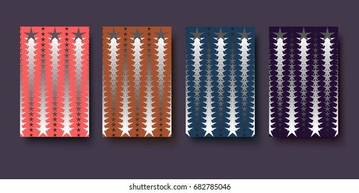 Abstract background pattern with stars. Vector icon illustration.
