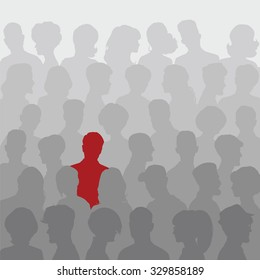Abstract background of people silhouettes