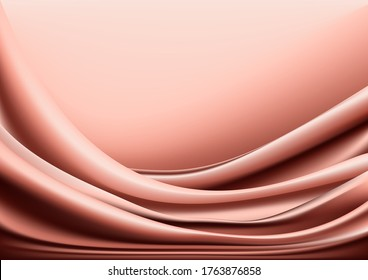 Abstract background. Pink draperies and pleats on a pink background.