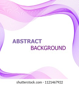 Abstract background with pink and purple lines wave, stock vector
