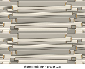 Abstract background with pipes. Hand drawn vector illustration. Flat color design.