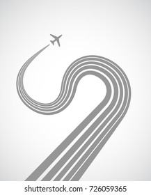 abstract background with plane icon