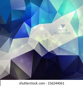 Abstract background with polygons/ design