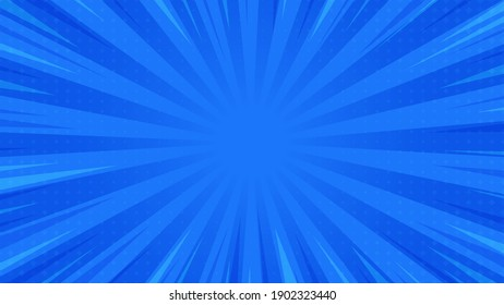 Abstract Background Pop Art Comic Scattered light rays Zoom with halftone square. Vector Illustration.