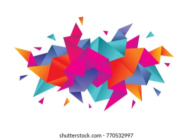 Abstract background for presentation, website, book cover and other design project. Creative vector illustration. Geometric polygonal structure. Graphic horizontal banner. Mosaic origami layout.