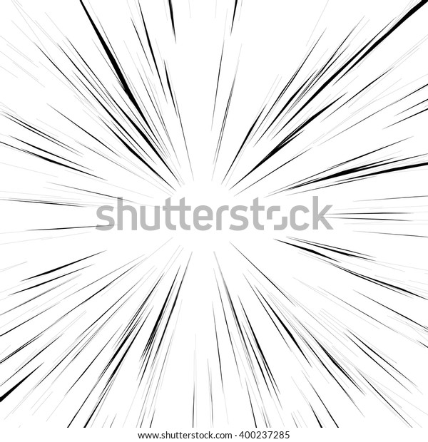 Abstract background with radial lines. Monochrome burst background.