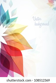 abstract background with rainbow flowers