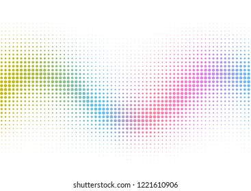 Abstract background with a rainbow halftone dots design