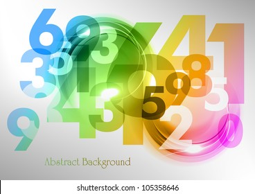 abstract background with rainbow numbers