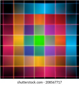 Abstract background rainbow square ,vector ,colorful.