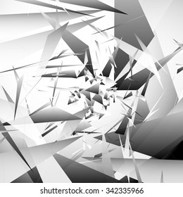 Abstract background with random, angular shapes. vector art