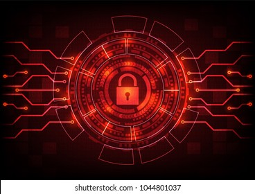 Abstract background ransomware malware virus threat key lock files. Vector illustration cyber security infographic concept.