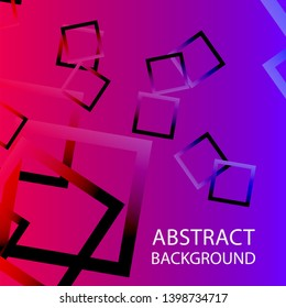 Abstract background with rectangular elements and gradient color. vector