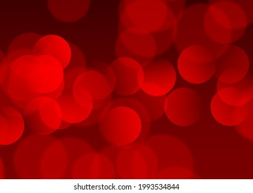 Abstract background with a red bokeh lights design