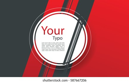 abstract background with red and gray strips for your type