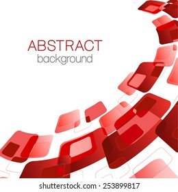 Abstract background with red rectangles