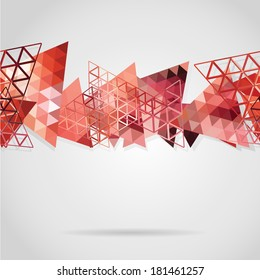 Abstract background with red triangles. Use as backdrop. Place your text on the top