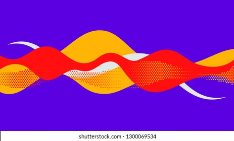 Abstract background red yellow purple sound wave illustration vector