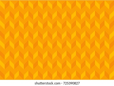 Abstract background repeating pattern in bright orange shades. minimal geometric shapes in flat design, zigzag texture, 3d effect, no gradients.