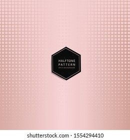 abstract background of rosegold halftone pattern