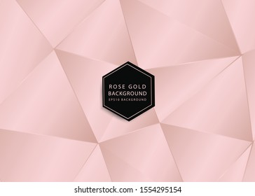 abstract background of rosegold polygon pattern