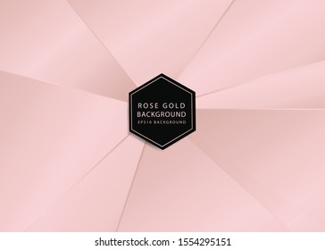 abstract background of rosegold rays pattern