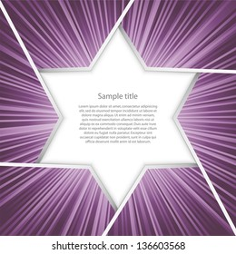 abstract background for sample text with burst : star shape : purple burst