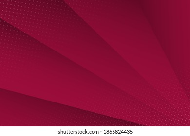 Abstract background with shadows and dots in maroon color. Vector background.