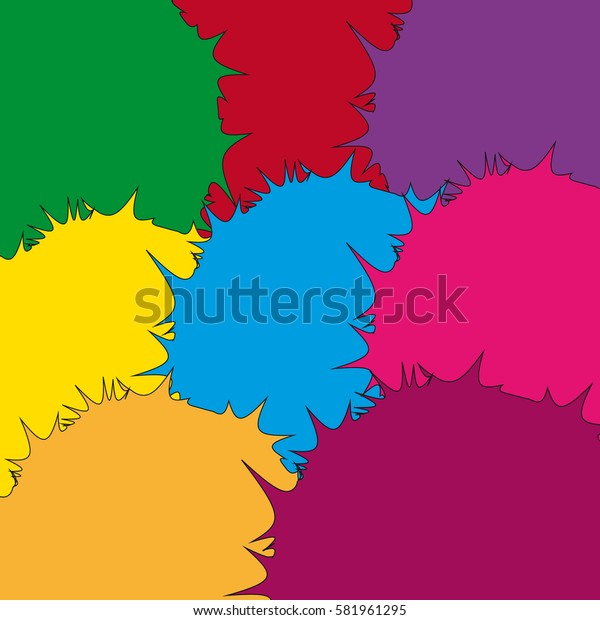 Abstract background with abstract shapes. Vector illustration.