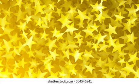 Abstract background of small stars in yellow colors