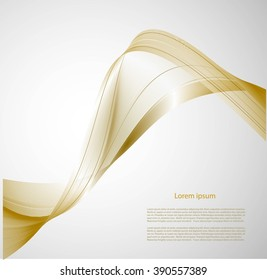 Abstract background with smooth lines and text