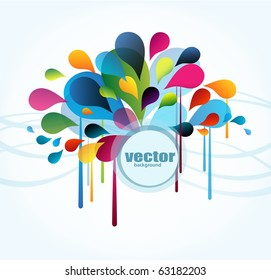 Abstract background with splash and place for your text, vector