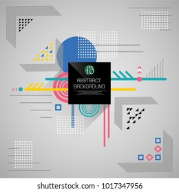 Abstract background of square geometric pattern in various color, illustration vector eps10