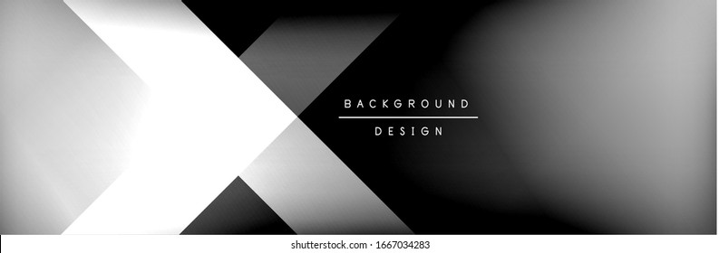 Abstract background - squares and lines composition created with lights and shadows. Technology or business digital template. Trendy simple fluid color gradient abstract background with dynamic