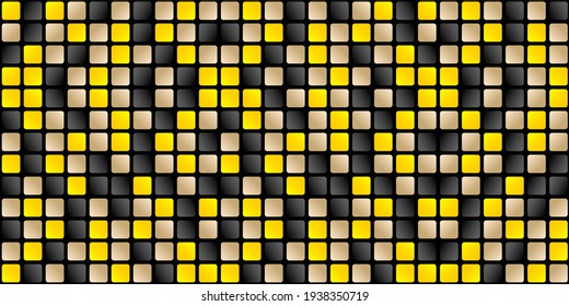 abstract background with squares pattern vector, Abstract textures Dark colors black with tiles model yellow or illuminating, gold and black gradient colors for webs banner, signs, and backdrop agency