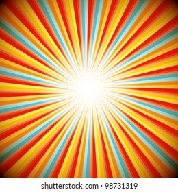 Abstract background of star burst - eps10 vector
