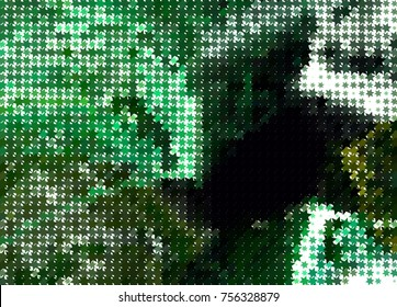 Abstract background with stars. Halftone effect. Vector clip art