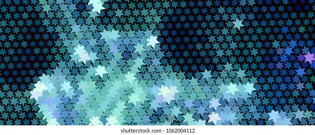 Abstract background with stars. Horizontal banner, texture, flyer, layout, postcard. Vector clip art