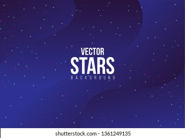 Abstract Background with Stars, Purple Universe